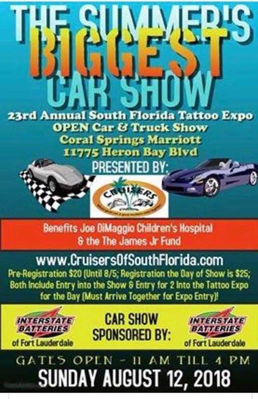 Car Show Benefiting Joe DiMaggio Childrens Hospital James Jr At - Fort lauderdale car show