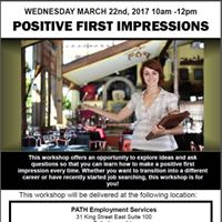 Positive First Impressions Workshop