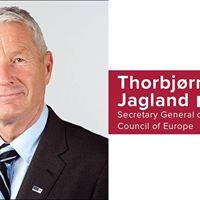 Secretary General Thorbjrn Jagland at the Oxford Union