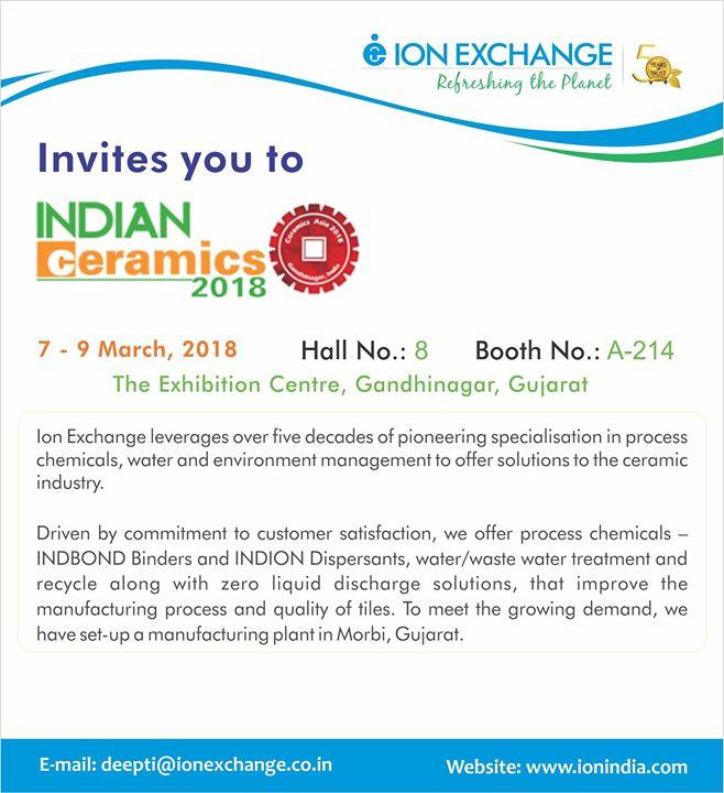 Ion Exchange at Indian Ceramics | Mumbai