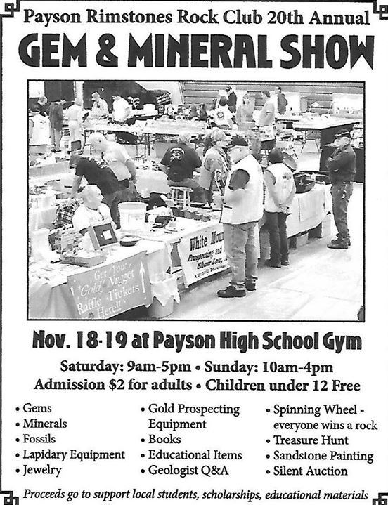 Payson Rimstones Gem and Mineral Show at Payson High School