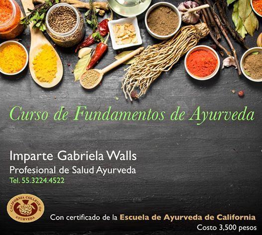 FUNDAMENTOS DE AYURVEDA DEL CCA (California College Of Ayurveda)