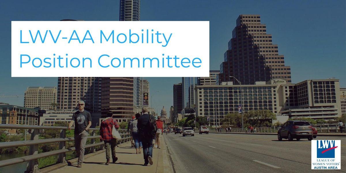 Open Forum LWV-AA Mobility & Transportation Position Statement Update