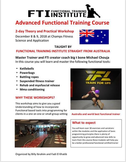 Functional training course from australia