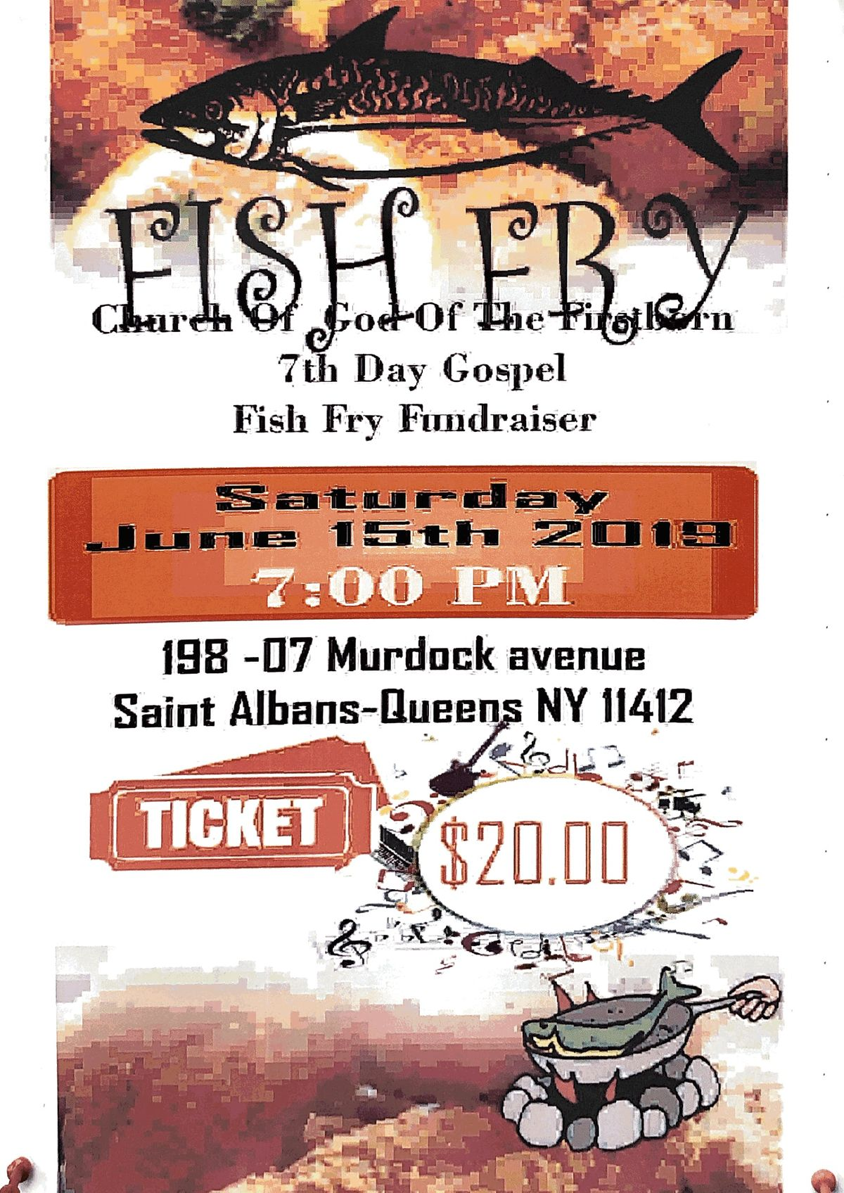Church of God 7th Day Queens Fish Fry at 198-7 Murdock Ave