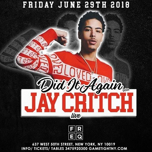 Jay Critch live at Freq NYC 2018