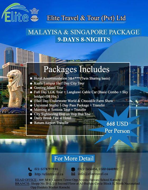 Malaysia and Singapore Package at Elite Travel, Karachi
