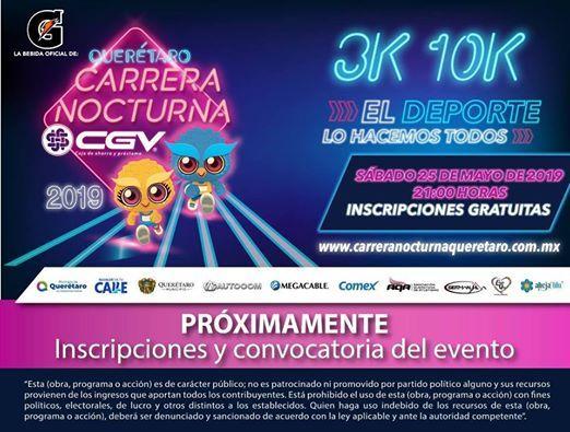 Carrera Nocturna CGV 2019 At Centro Histórico De Santiago