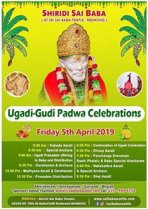 Ugadi & Gudi Padwa Celebrations at Saibaba Seattle, Washington