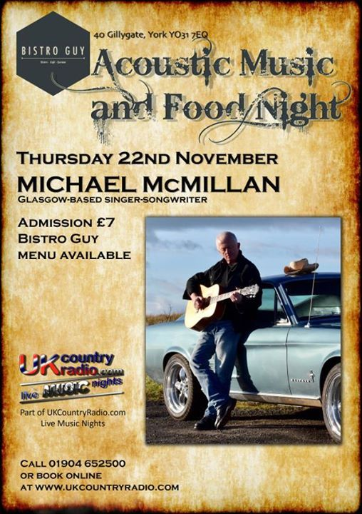 Live Music Night with Michael McMillan