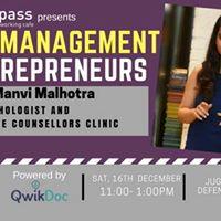Stress Management for Entrepreneurs by Manvi Malhotra