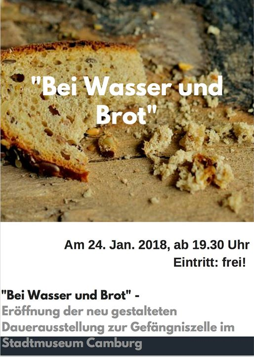 07774 Dornburg Camburg bei wasser und brot ausstellungseröffnung stadtmuseum camburg at