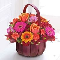 Fresh Flower Autumn Basket
