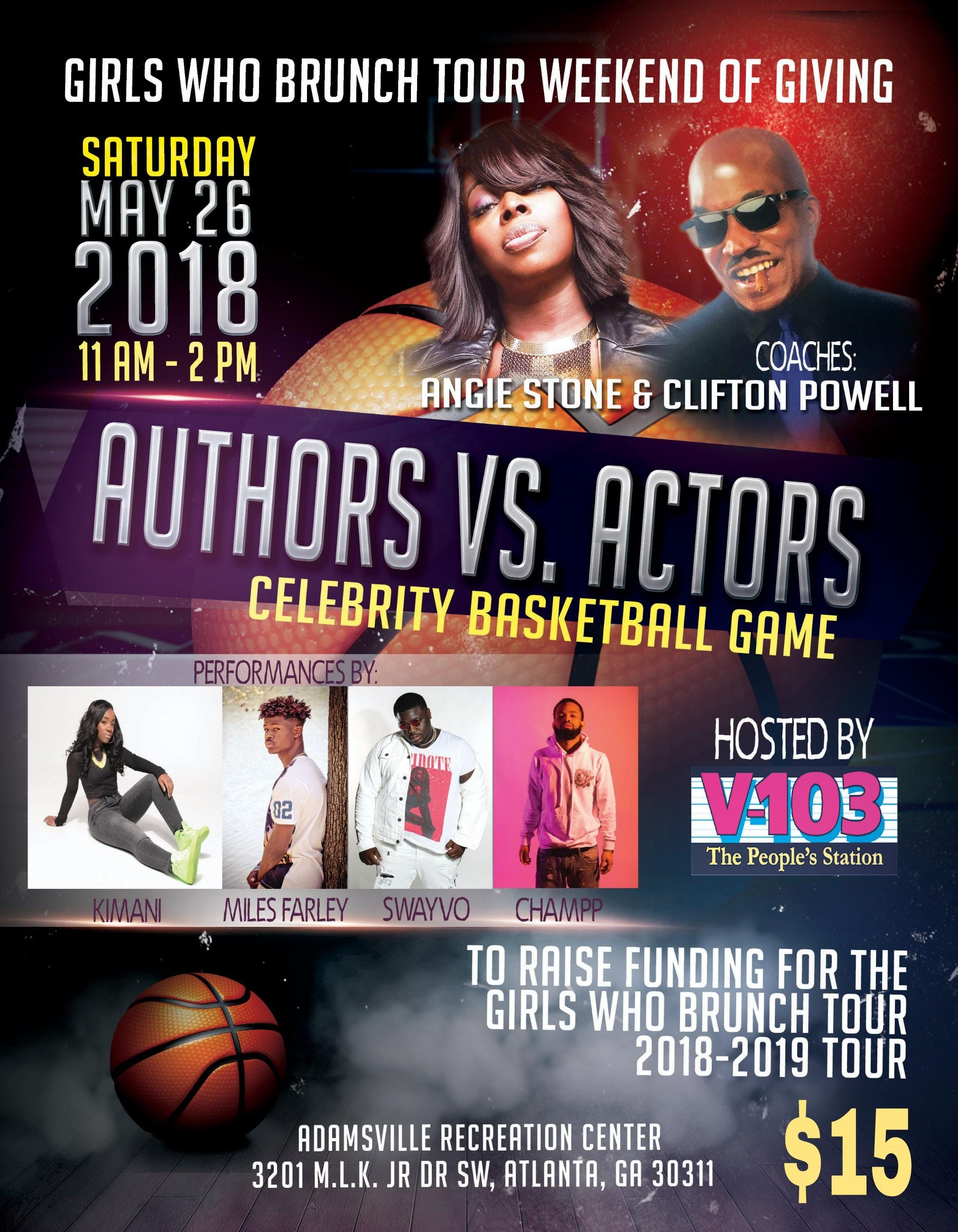 GWBT 2nd Annual Actors Vs  Authors Charity Basketball Game