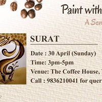 Paint with Coffee on Canvas  Surat