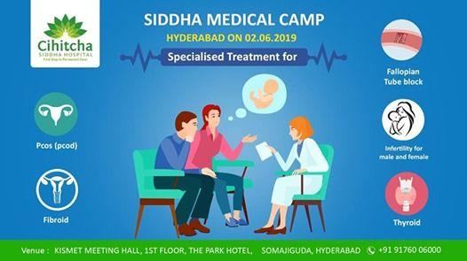Siddha Medical Camp Hyderabad 02 06 2019 at The Park