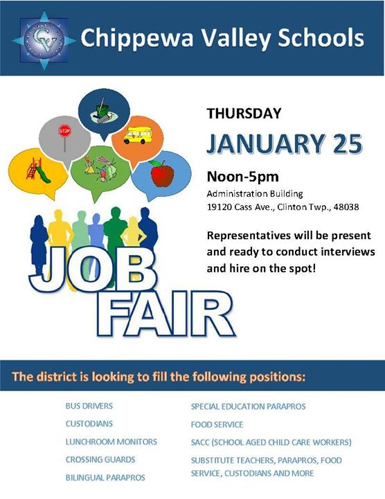 Job Fair. Chippewa Valley Schools ...
