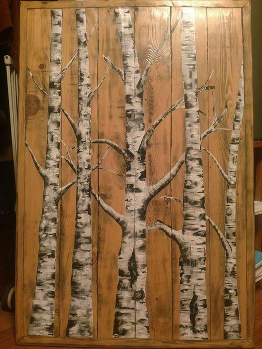 Birch tree wall hanging