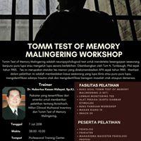 Workshop Tomm Test of Memory Malingering