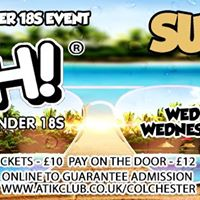 Crush Under 18s Summer 2017 at Atik Colchester