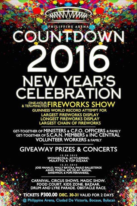 Philippine Arena Countdown 2016 New Years Celebration