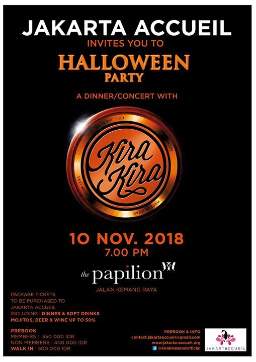 Jakarta Accueil invites you to Halloween Party with Kira Kira