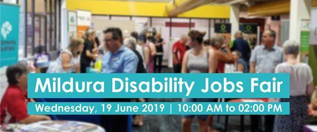 Mildura Disability Jobs Fair at SuniTAFE, Sunraysia Institute Of