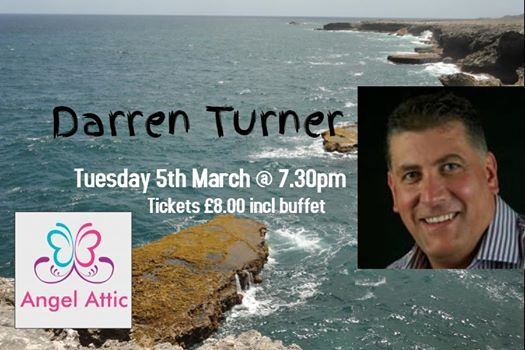 Darren Turner joins us here at Angel Attic on Tuesday 5th March