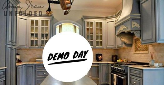 demo day how to paint your kitchen cabinets with chalk paint at the rh allevents in Used Kitchen Cabinets with Chalk Paint Colors with Examples Used Kitchen Cabinets with Chalk Paint Colors with Examples
