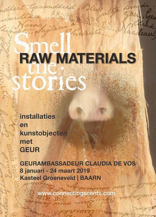Raw materials  Geurkunst tentoonstelling