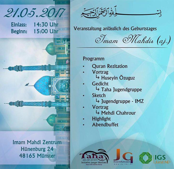 Veranstaltung anlässlich des Geburtstags Imam Mahdis (As.) ein. at ...