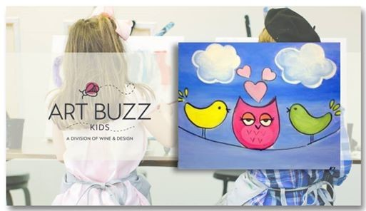 Art Buzz Kids Birds Of A Feather At Wine Design Wake Forest Nc