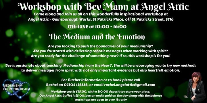 Sunday 17th Workshop with Bev Mann here at Angel Attic