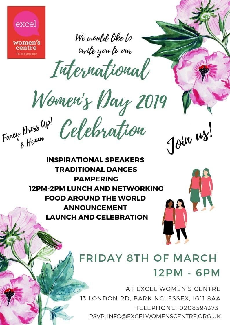 Your invited to the International Womens day Event.