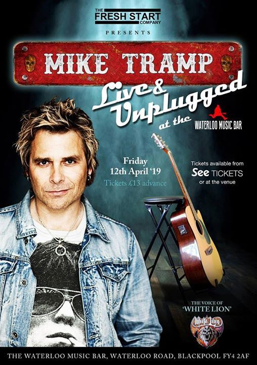 Mike Tramp Live & Unplugged plus guest Rob Wylde