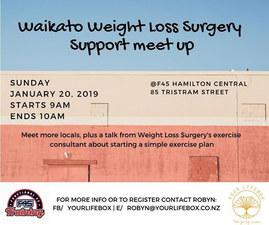 Waikato Weight Loss Surgery Support Group At F45 Training Hamilton