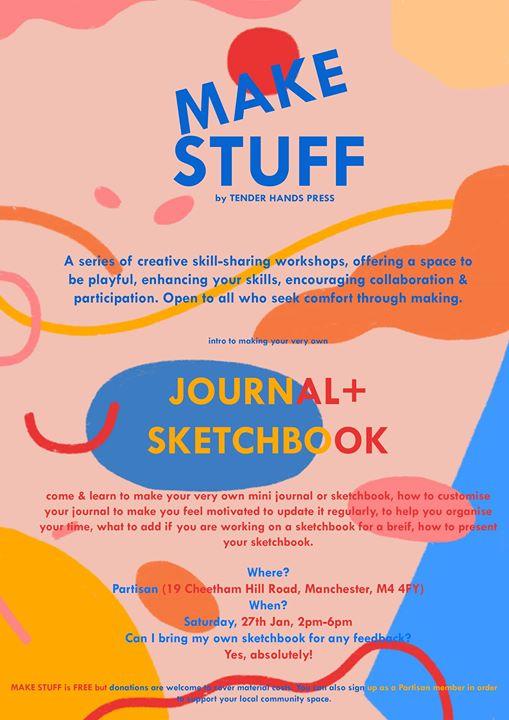 MAKE STUFF - Journal  Sketchbook making workshop