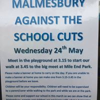 Malmesbury Primary School March Against The Cuts