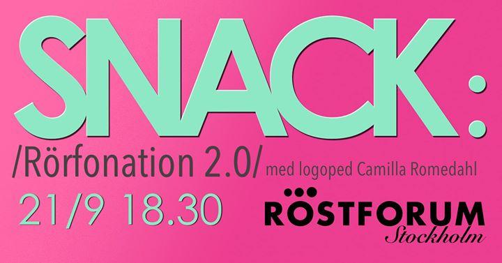 SNACK Rrfonation 2.0 med Camilla Romedahl