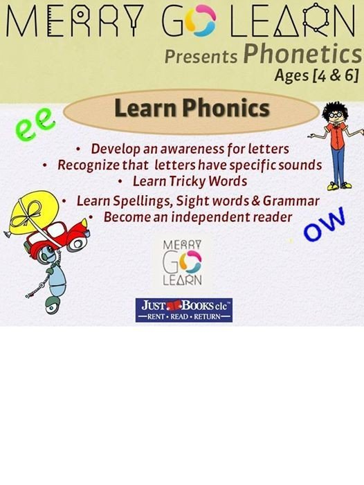 Phonics at JustBooks BTM twice a week