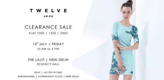 Clearance Sale  Twelve AMPM