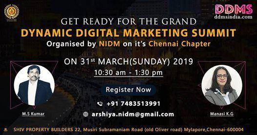 DDMS-Dynamic Digital Marketing Summit Chennai-Chapter