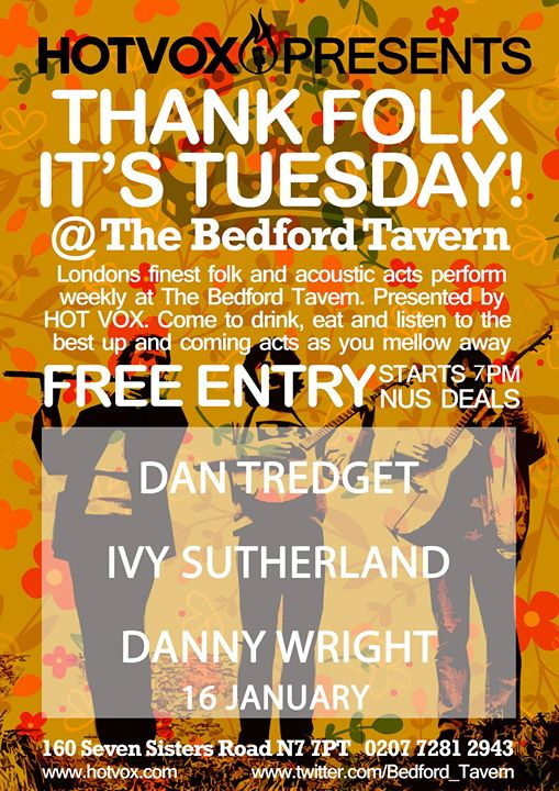 HOT VOX Presents Thank Folk Its Tuesday Ft. Dan Tredget  MORE