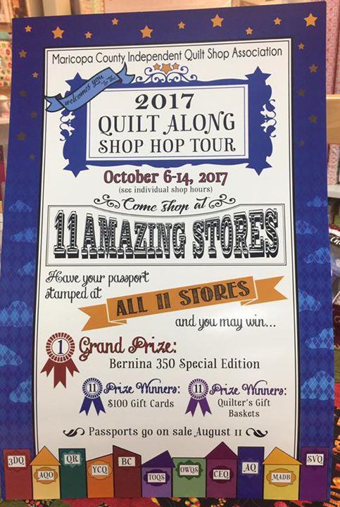 Quilt Along Shop Hop Tour At Maricopa County Independent Quilt Shop