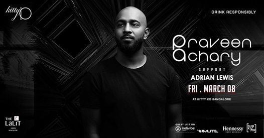 KittyKO presents Praveen Achary supported by Adrian Lewis