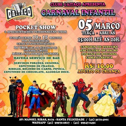 Carnaval Infantil no Gaitao Sertanejo