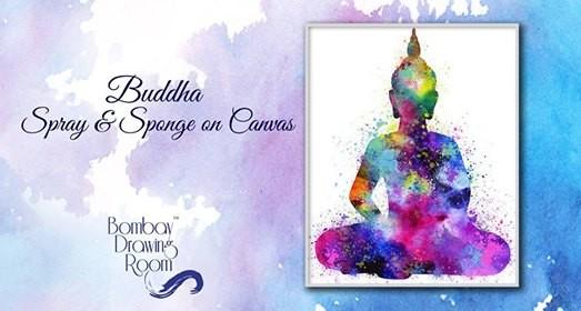 Buddha Spray & Sponge on Canvas - Cafe Zoe
