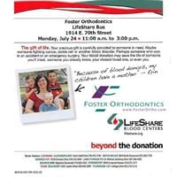 Foster Ortho Blood Drive
