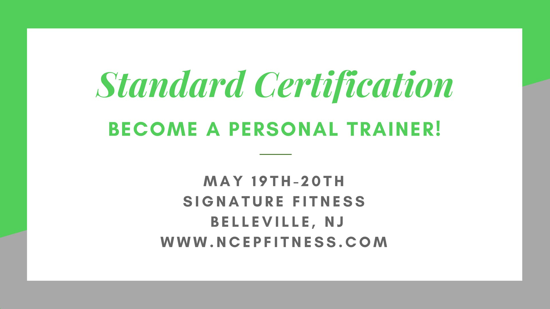 Personal Training Workshopcertification At Signature Fitness Clubs