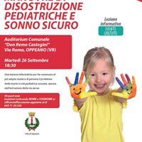 Lezione gratuita di manovre salva vita e disostruzione pediatric